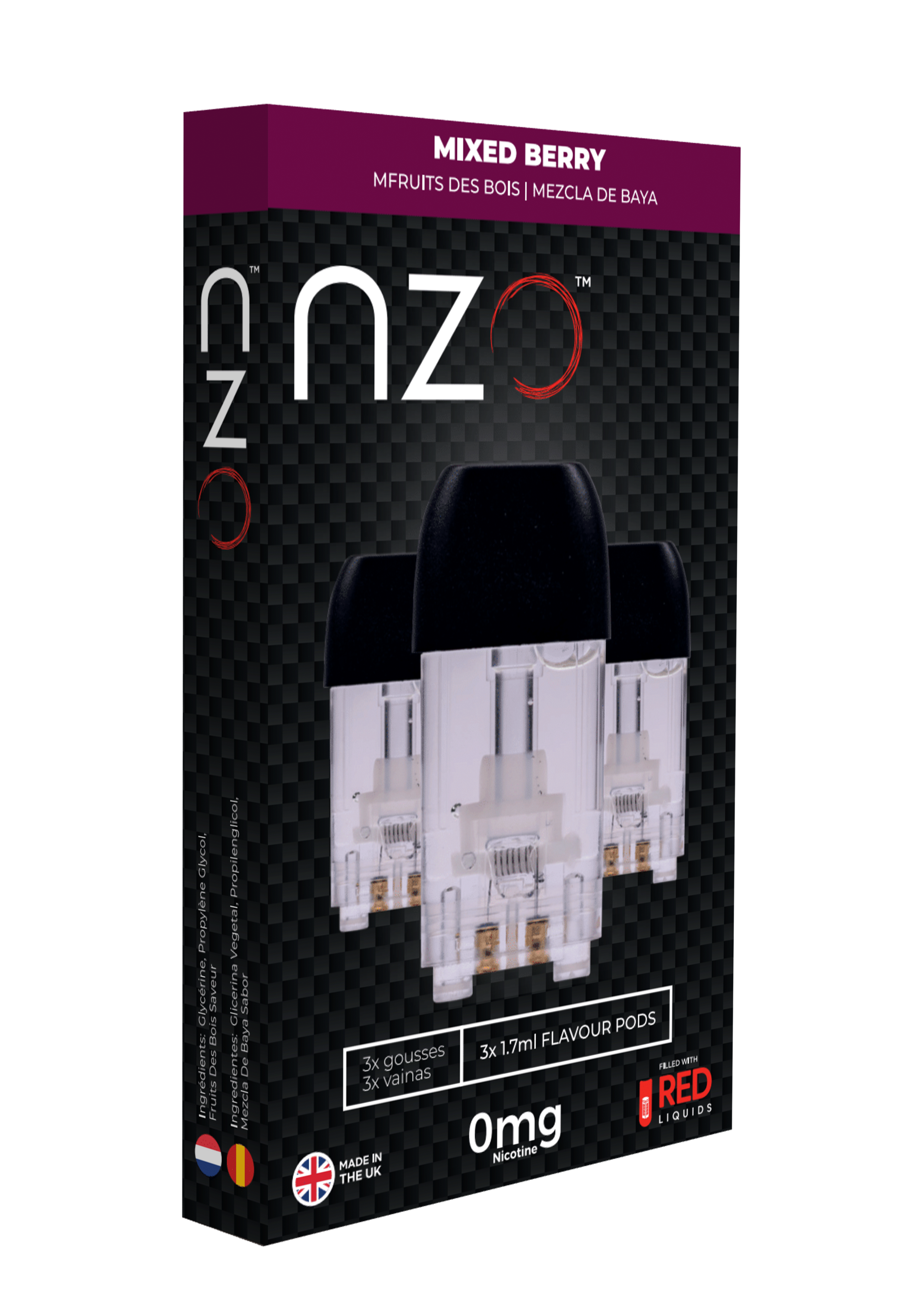 Mixed Berry by Red Liquids NZO Aussie Vape Labs Wholesale Distribution